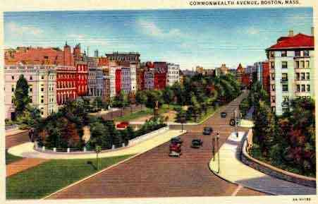 Boston, Massachusetts, USA - Commonwealth Avenue, Boston, Mass.