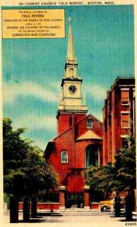 Boston, Massachusetts, USA - Old North Church, Boston, Mass.