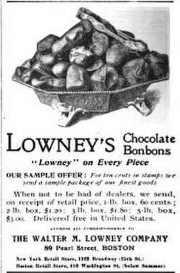 Boston, Massachusetts, USA - Lowney's Chocolate Bonbons