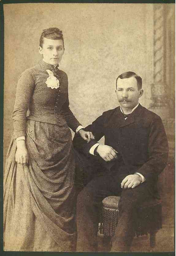 Augustus (Augustine) Henry Bourgarde - Augustine Henry Bourgarde & Mary wedding picture