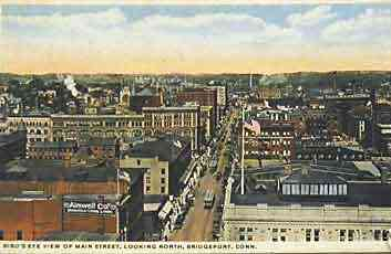 Bridgeport, Connecticut, USA - Bird's Eye View of Main Street, looking North, Bridgeport, Conn.