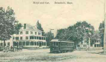 Brimfield, Massachusetts, USA - Hotel and Car. Brimfield, Mass.