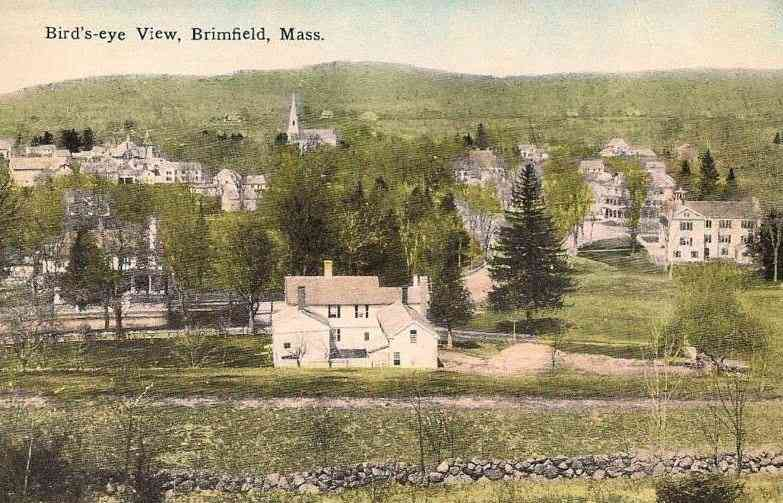 Brimfield, Massachusetts, USA - Bird's-eye View, Brimfield, Mass.
