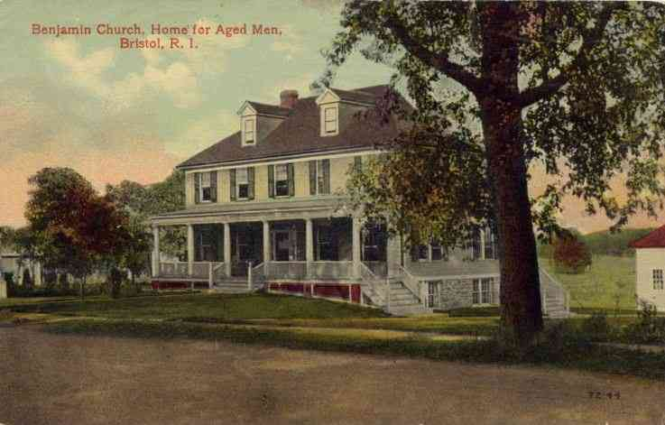 Bristol, Rhode Island, USA - Benjamin Church, Home for Aged Men, Bristol, R. I.