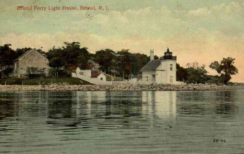 Bristol, Rhode Island, USA - Bristol Ferry Light House, Bristol, R.I. (1910)