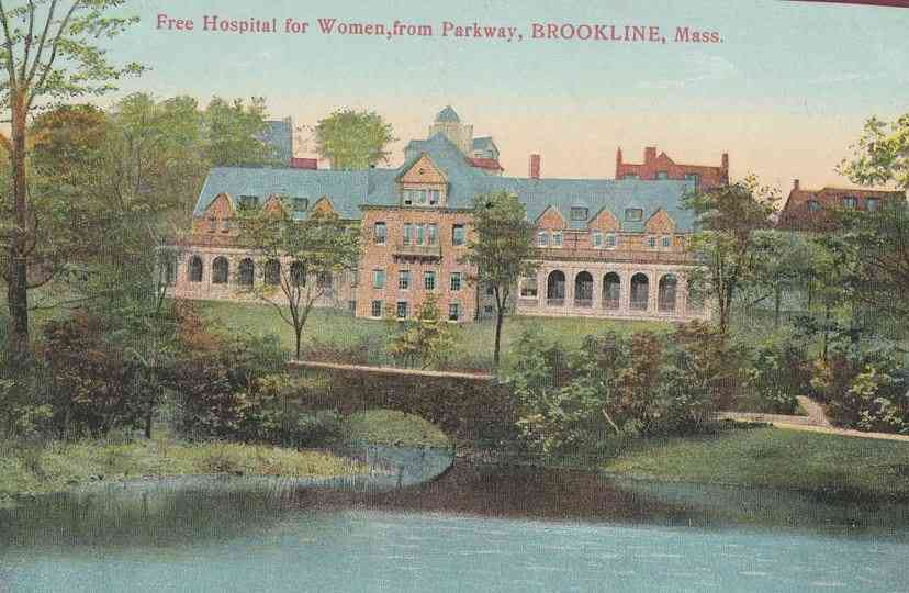 Brookline, Massachusetts, USA - Free Hospital for Women, from Parkway, Brookline, Mass.