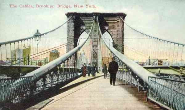 Brooklyn, New York, USA (Flatlands) (Flatbush) - The Cables, Brooklyn Bridge, New York