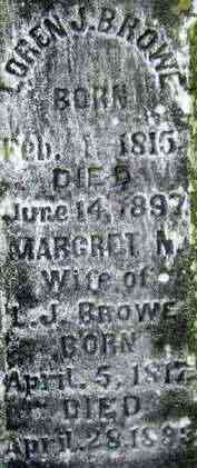 Laurent (Loren) Joseph BROWE (BREAULT) (BRAULT) - Saint Mary's Cemetery - Richmond, Chittenden, Vermont