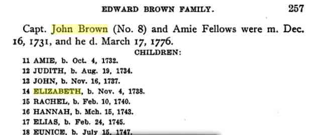 Amie BROWN (BROWNE) - Source: