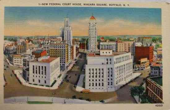 Buffalo, New York, USA - New Federal Court House, Niagara Square, Buffalo, N.Y.