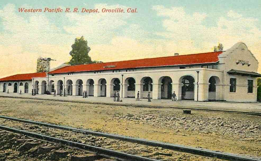 Butte County, California, USA - Western Pacific R.R. Depot, Oroville, Cal.
