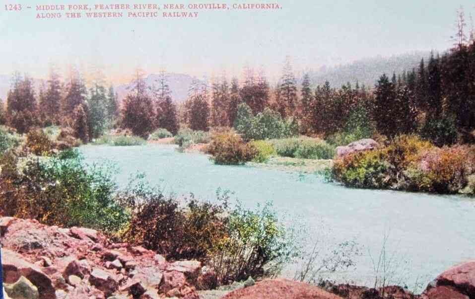 Butte County, California, USA - Middle Fork, Feather River, Near Oroville, California, Along the Western Pacific Railway