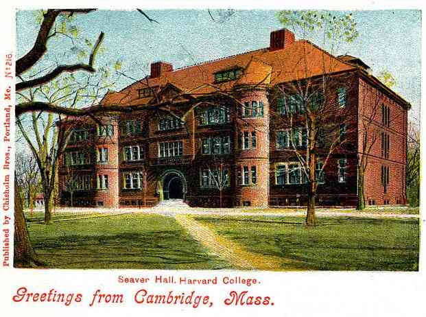 Cambridge, Massachusetts, USA - Seaver Hall, Harvard College