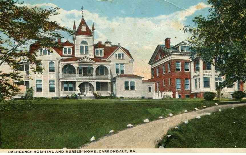 Carbondale,  Pennsylvania, USA - Emergency Hospital and Nurses' Home, Carbondale, Pa.