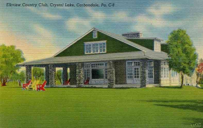 Carbondale,  Pennsylvania, USA - Elkview Country Club, Crystal Lake, Carbondale, Pa.