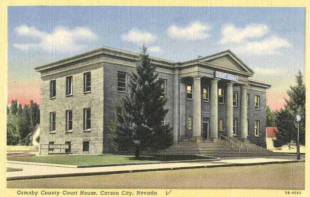 Carson City, Nevada, USA - Ormsby County Court House, Carson City, Nevada