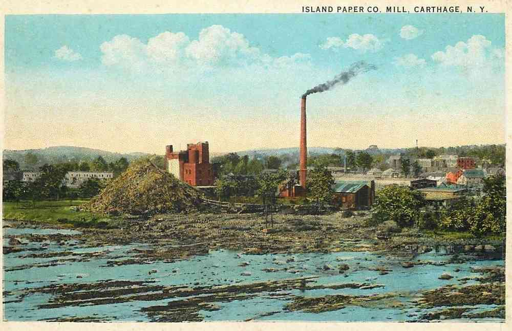 Wilna, New York, USA (Carthage) - Island Paper Co. Mill