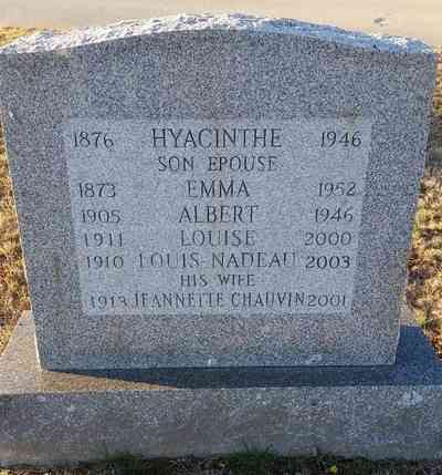 Marie Jeannette CHAUVIN - Grave