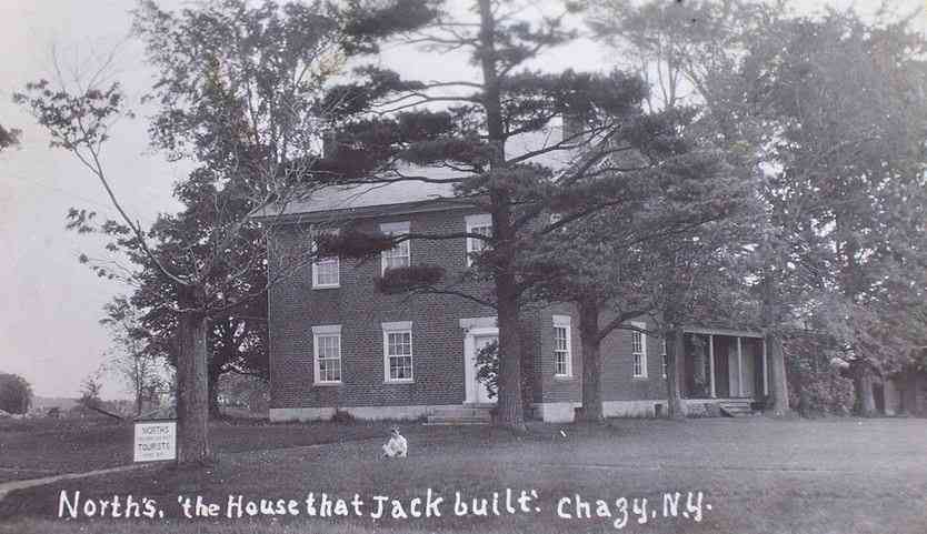 Chazy, New York, USA (Sciota) - North's. 'the House that Jack built.' Chazy, N.Y.
