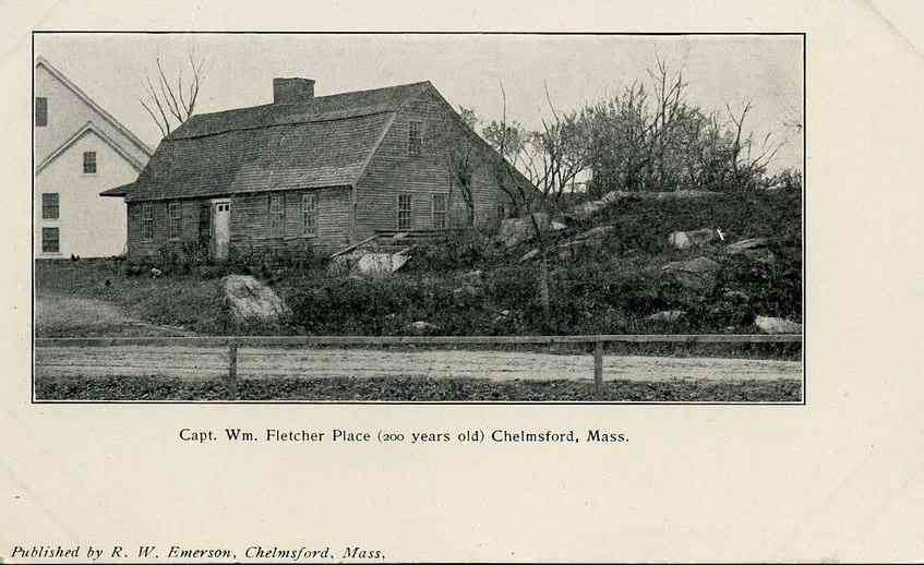 Chelmsford, Massachusetts, USA - Capt. Wm. Fletcher Place (200 years old) Chelmsford, Mass. (1907)