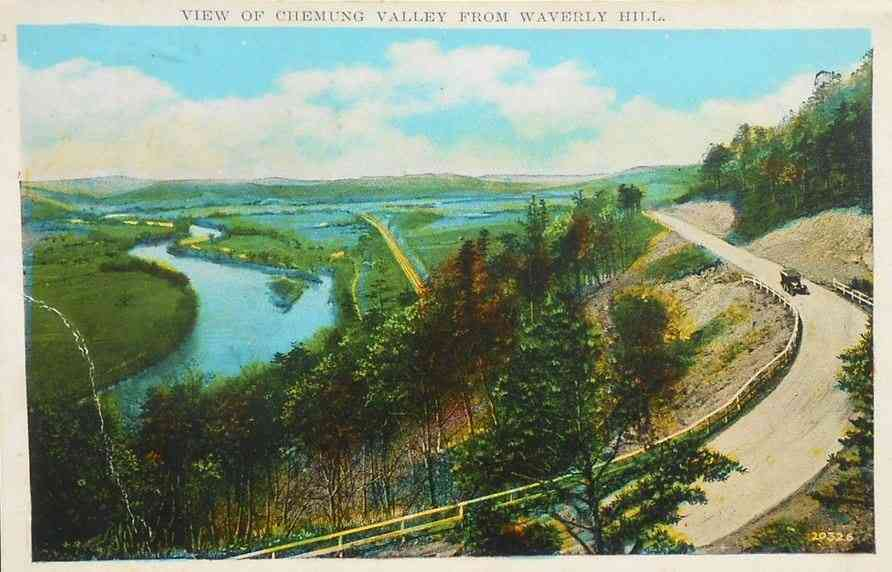 Chemung, New York, USA - View of Chemung Valley from Waverly Hill