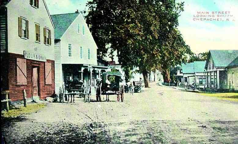 Glocester, Rhode Island, USA (West Glocester) (Chepachet) (Harmony) - Main Street Looking South, Chepachet, R.I.