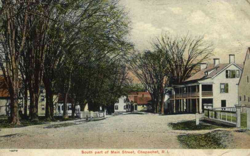 Glocester, Rhode Island, USA (West Glocester) (Chepachet) (Harmony) - South part of Main Street, Chepachet, R.I.