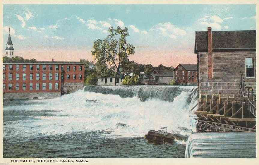 Chicopee, Massachusetts, USA - The Falls, Chicopee Falls, Mass.