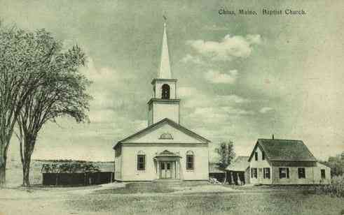 China, Maine, USA - Baptist Church. China, Maine. (1910)