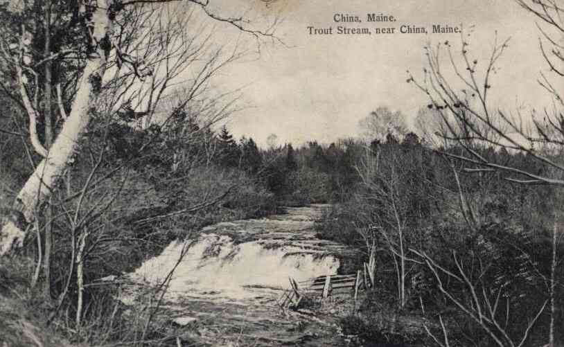 China, Maine, USA - Trout Stream, near China, Maine