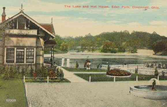 Cincinnati, Ohio, USA - The Lake and Hot House, Eden Park, Cincinnati, Ohio.