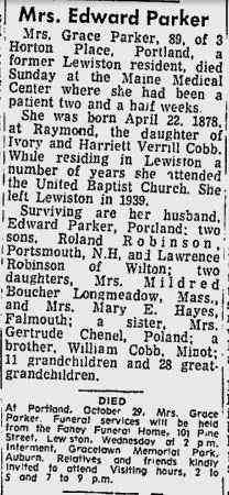 Grace Agnus Cobb - Obituary