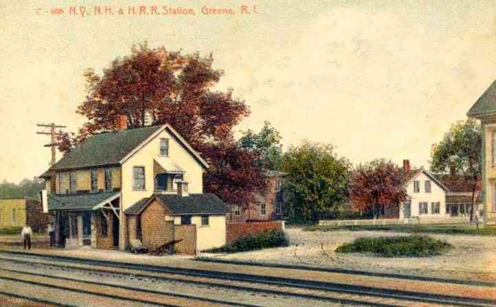 Coventry, Rhode Island, USA - Railroad Station, Greene, R.I.