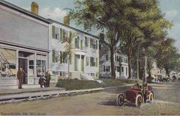 Damariscotta, Maine, USA - Main Street (1907)