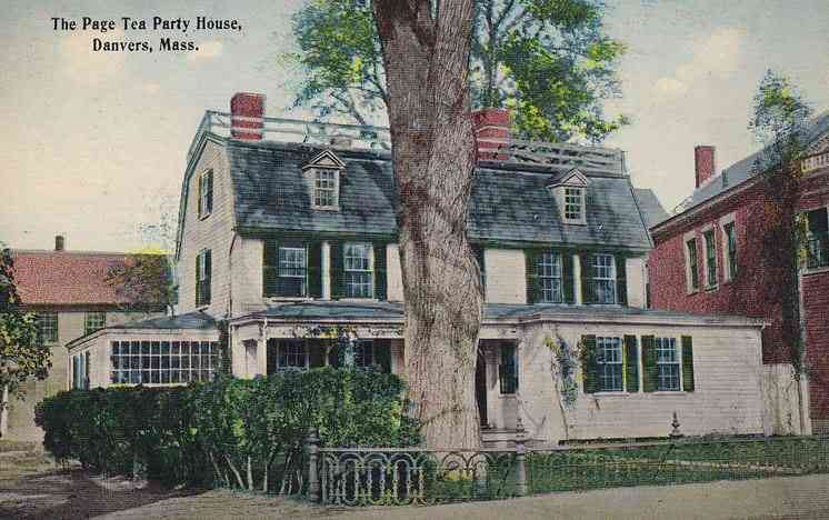 Danvers, Massachusetts, USA - The Page Tea Party House, Danvers, Mass.