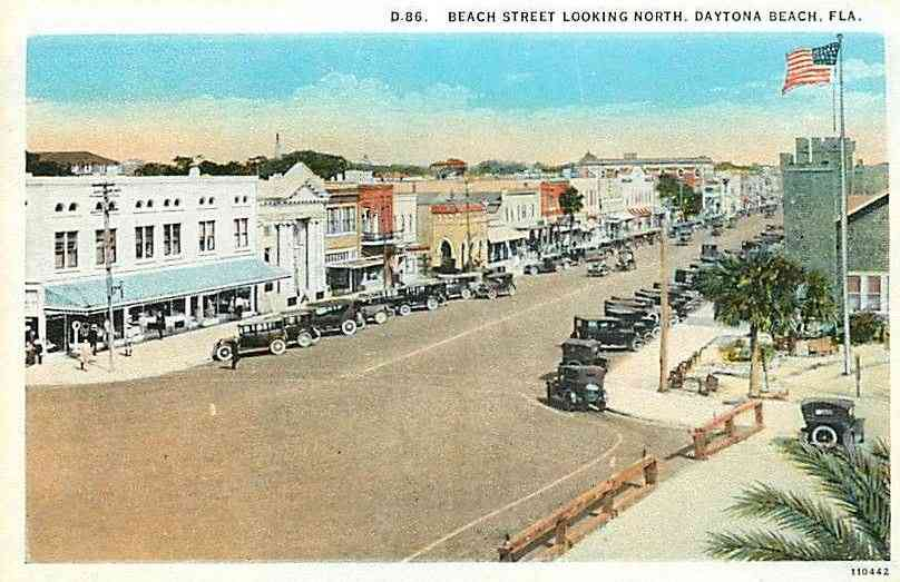 Daytona Beach, Florida, USA - Beach Street, Looking North