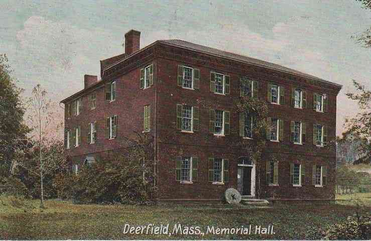 Deerfield, Massachusetts, USA (South Deerfield) - Deerfield, Mass., Memorial Hall.
