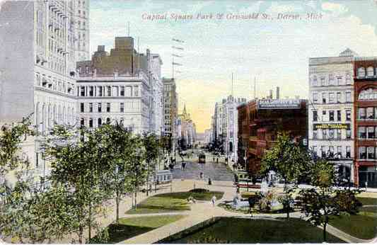 Detroit, Wayne, Michigan, USA - Capital Square Park - Griswold St., Detroit, Mich.