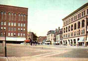 Dover, New Hampshire, USA - Central Square. Dover, N.H.