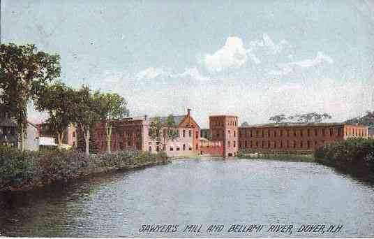 Dover, New Hampshire, USA - Sawyer's Mill and Bellami RIver, Diver, N.H.