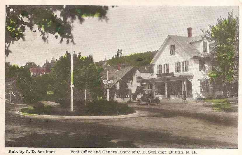 Dublin, New Hampshire, USA - Post Office and General Store of C. D. Scribner, Dublin, N.H.