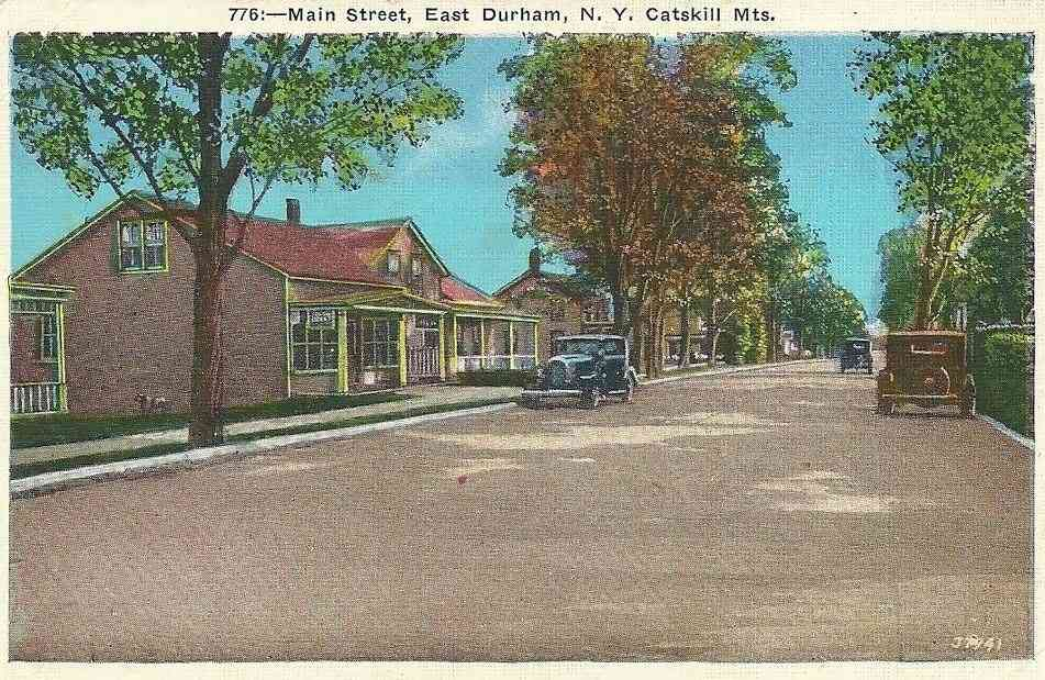 Durham, New York, USA - Main Street, East Durham, N.Y. Catskill Mts.