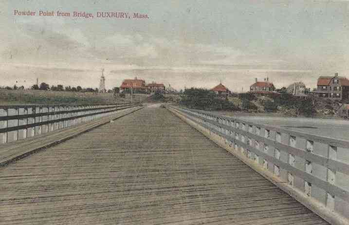 Duxbury, Massachusetts, USA (Cedar Crest) (South Duxbury) - Powder Point from Bridge, Duxbury, Mass.