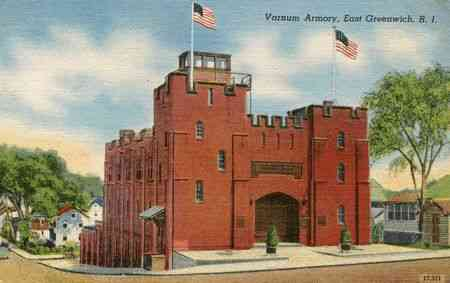 East Greenwich, Rhode Island, USA - Varnum Armory, East Greenwich, R.I.