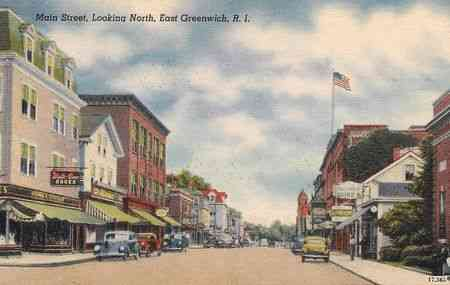 East Greenwich, Rhode Island, USA - Main Street, Looking North, East Greenwich, R.I.