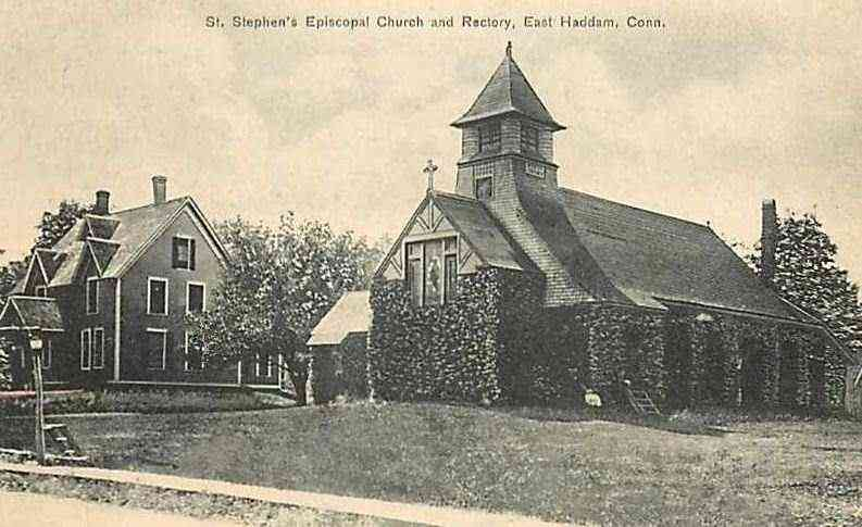 East Haddam, Connecticut, USA - St. Stephen's Episcopal Church and Rectory