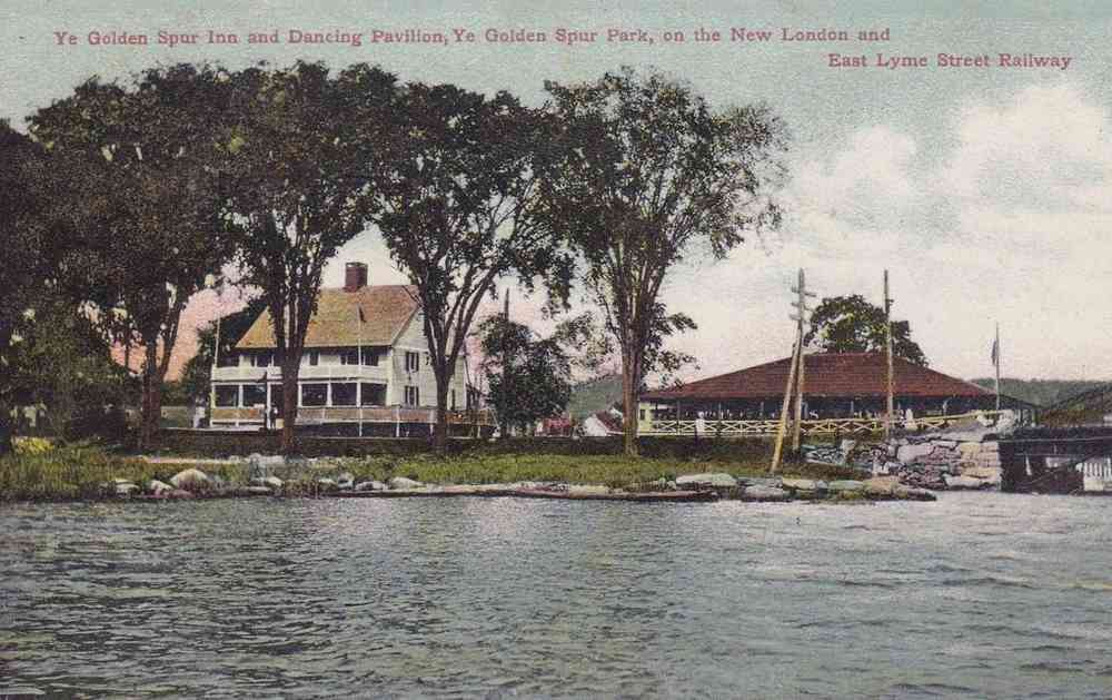 East Lyme, Connecticut, USA - Ye Golden Spur Inn and Dancing Pavilion, Ye Golden Spur Park, on the New London and East Lyme Street Railway
