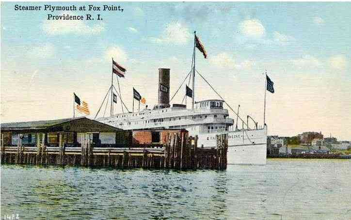 East Providence, Rhode Island, USA - Steamer Plymouth at Fox Point