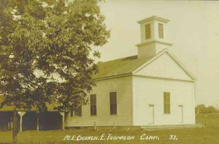 Thompson, Windham, Connecticut, USA - M. E. Church, E. Thompson, Conn.