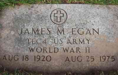 James M EGAN - St Mary's Cemetery